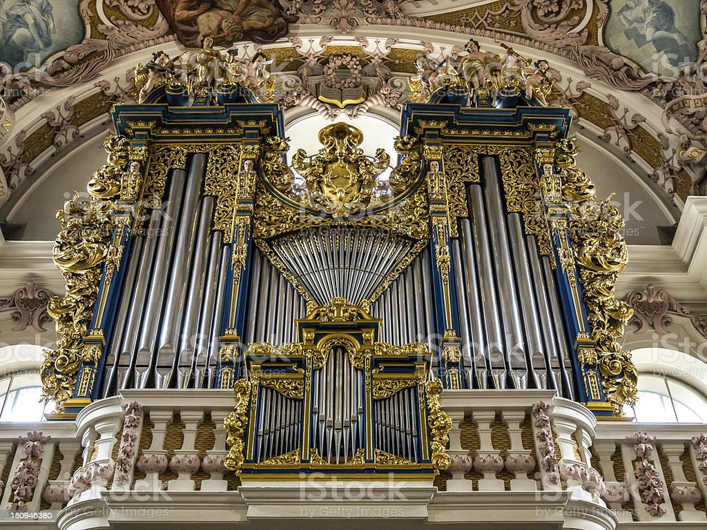 Church organ royalty-free stock photo