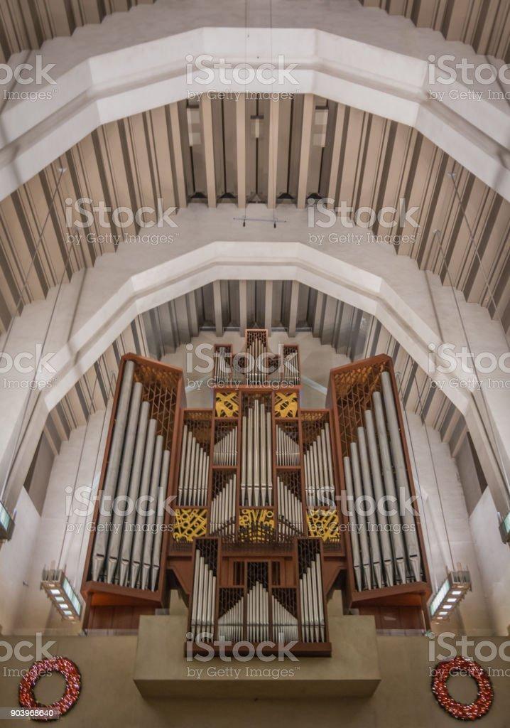 Church Organ stock photo