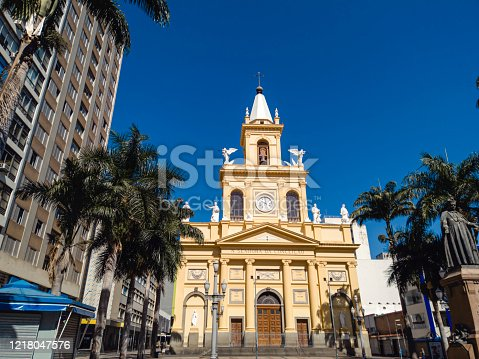 istock Church Our Lady of Conception in Campinas city. 1218047576