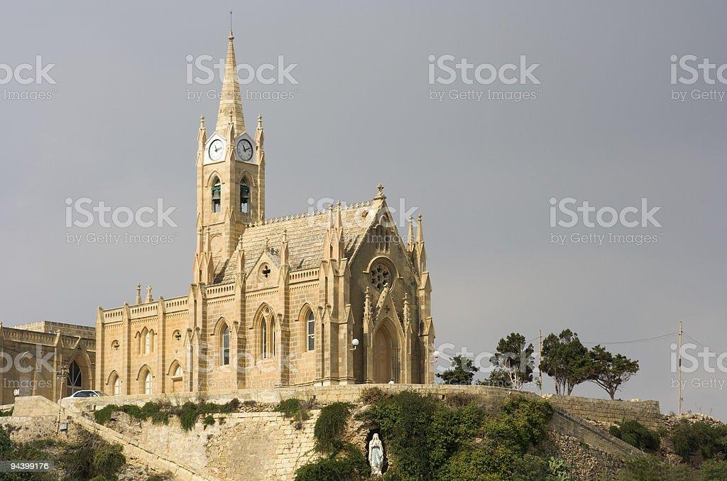 Church Over Mgarr, Gozo royalty-free stock photo