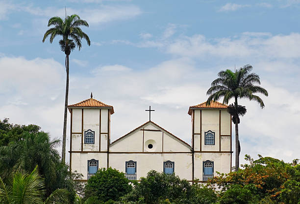 Church Panorama Old Church in Pirenopolis - Goias state, Brazil goias stock pictures, royalty-free photos & images
