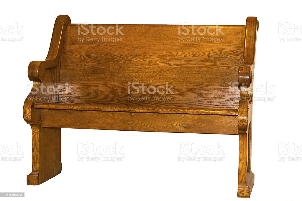 Church Pew Isolated royalty-free stock photo