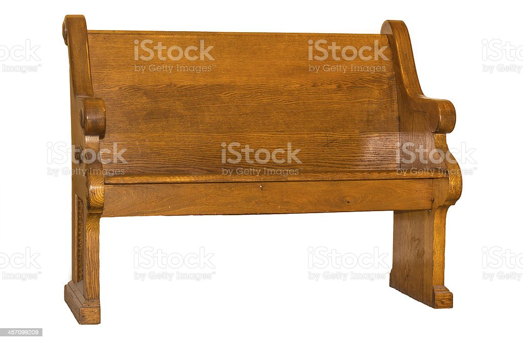 Church Pew Isolated stock photo