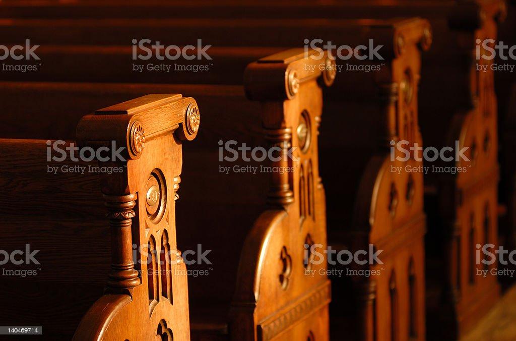 Church Pews royalty-free stock photo
