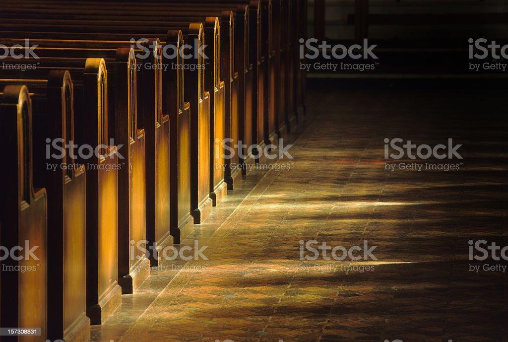 Church Pews stock photo