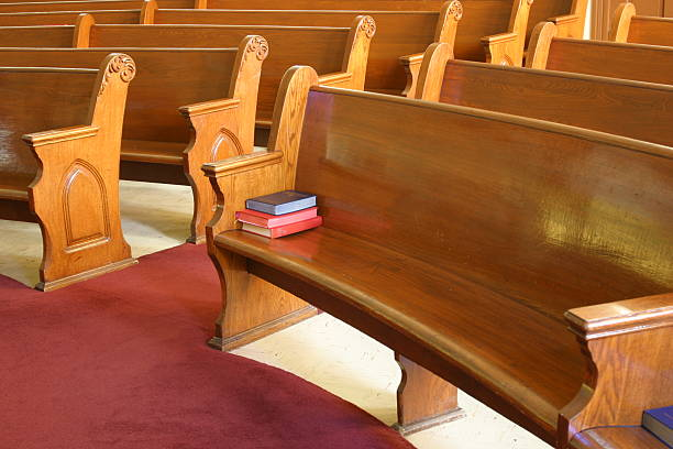 church pews church pews in a small country Methodist church pew stock pictures, royalty-free photos & images