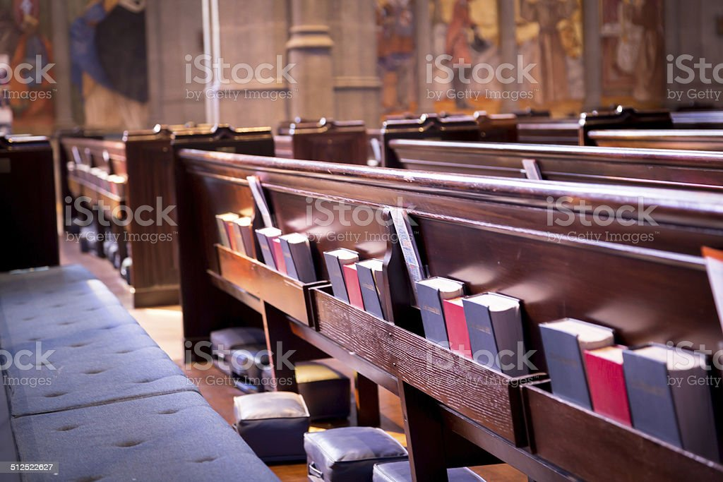 Church Pews stock photo