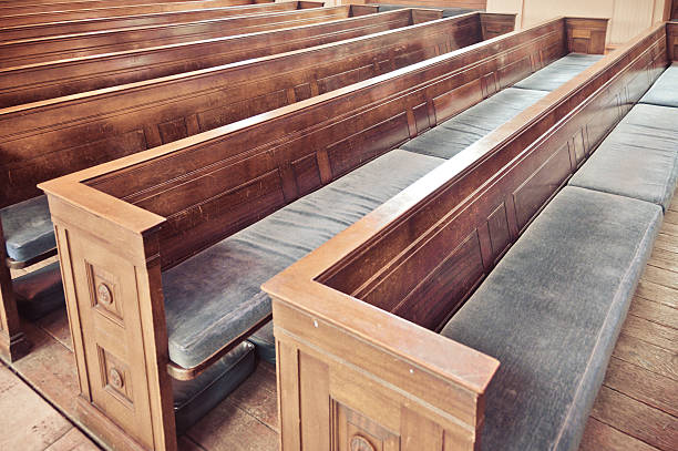 Church Pews Church Pews pew stock pictures, royalty-free photos & images