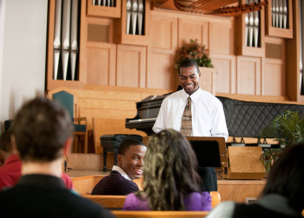 church - preacher stock photos and pictures