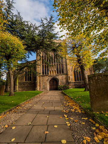Holy Trinity Church, Stratford upon Avon, Warwickshire, UK. The grave of William Shakespeare is inside the church.