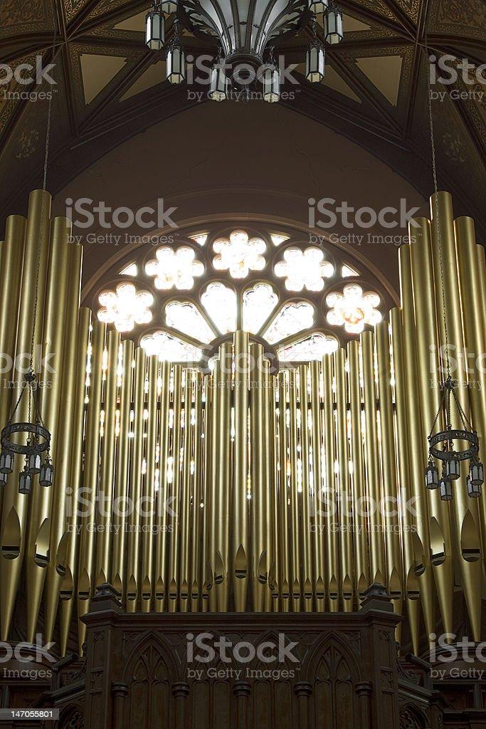 Church Pipe Organ royalty-free stock photo