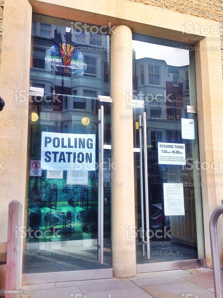 Church Polling Station 2015 stock photo