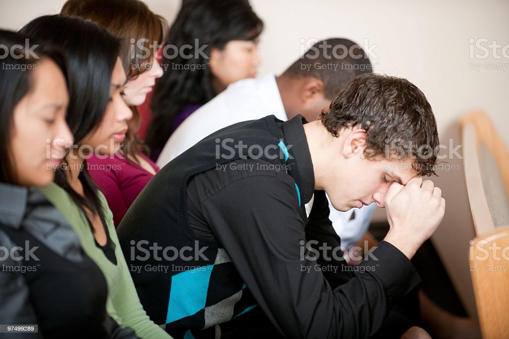 Church Prayer royalty-free stock photo