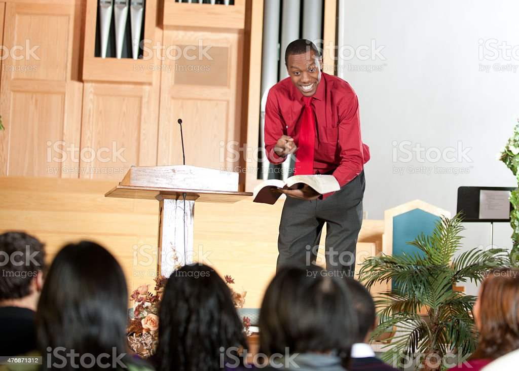 Church Preacher stock photo