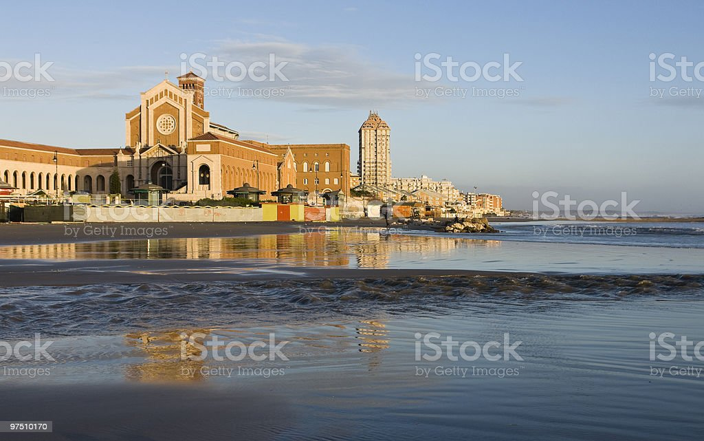 Church reflected in water royalty-free stock photo