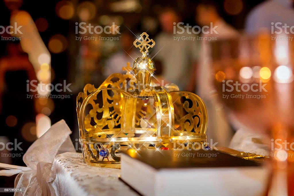 church ritual crown . Lizenzfreies stock-foto