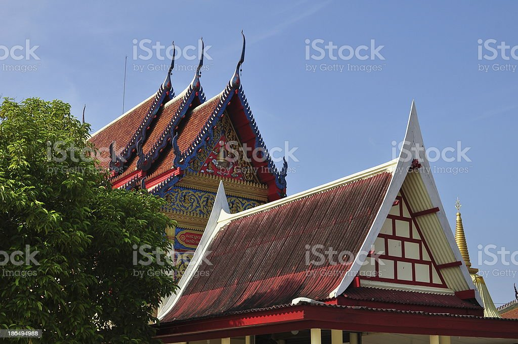 Church roof, Thailand royalty-free stock photo