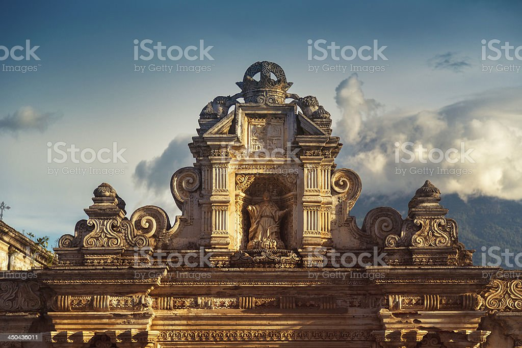 Ruinas antigua iglesia de guatemala - foto de stock