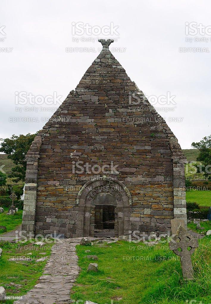 Church ruins, Kilmalkedar, Ireland stock photo