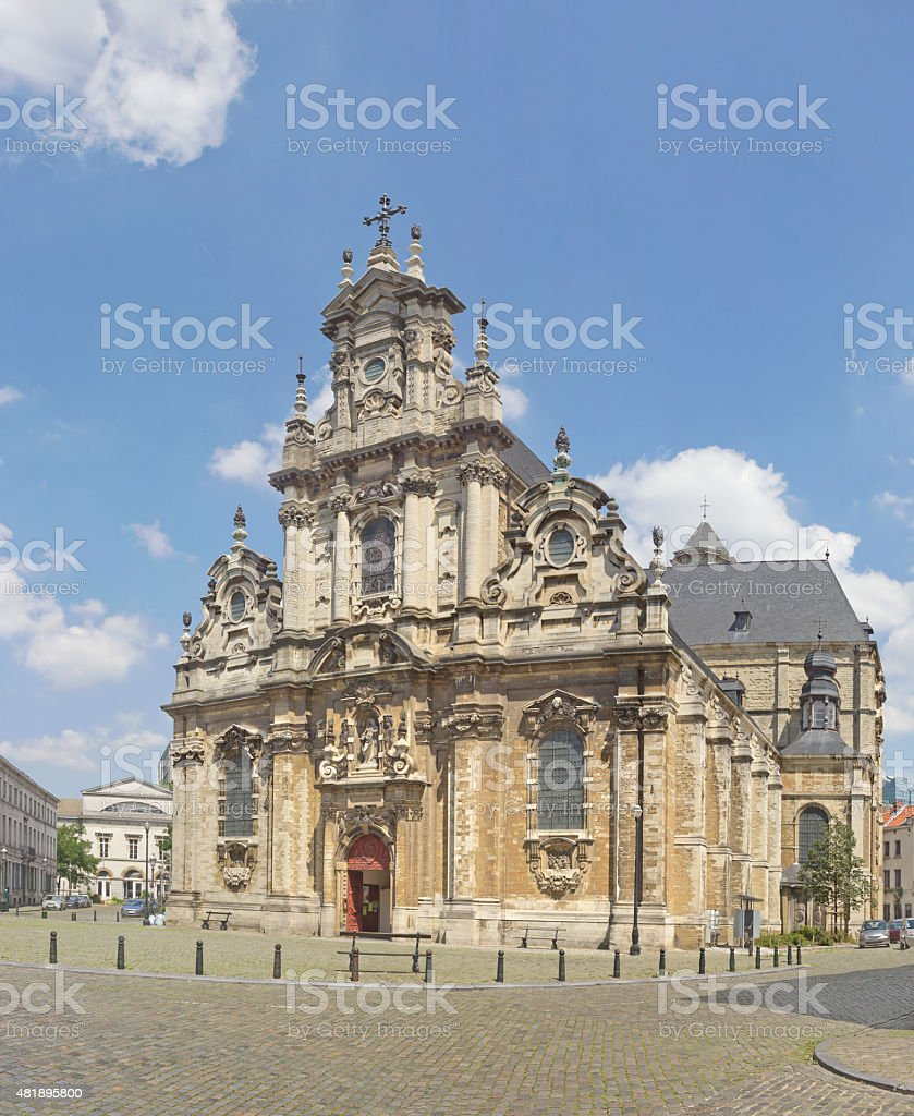 Church Saint Jean-Baptiste du Beguinage in Brussels, Belgium stock photo