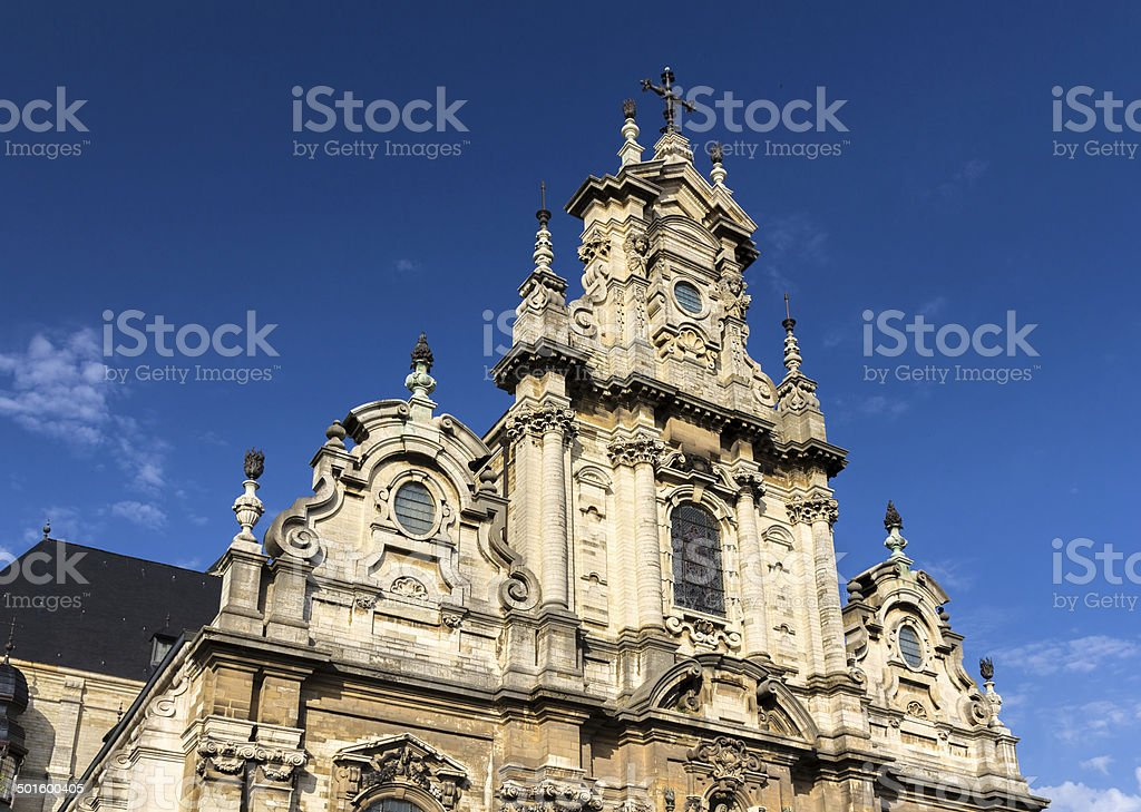 Church Saint John the Baptist in Brussels stock photo