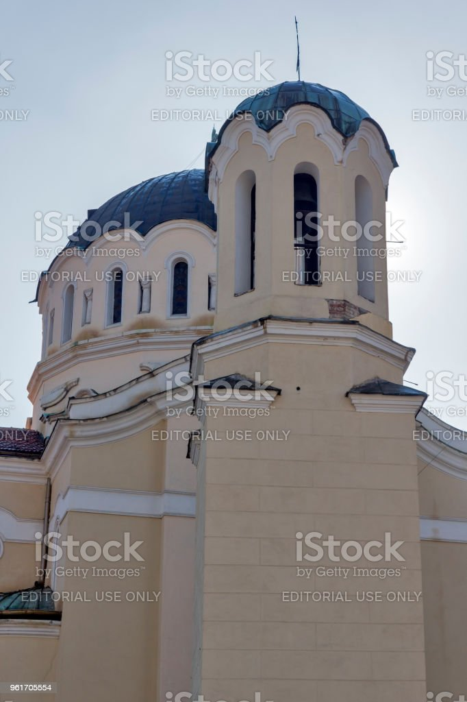 Church Saint Menas (St. Mina) in Town of Kyustendil, Bulgaria stock photo