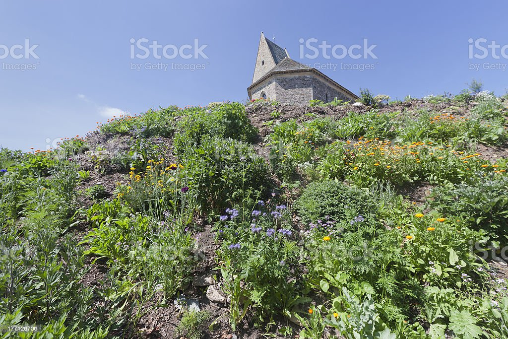 Church Sainte Patronille on top of hill royalty-free stock photo