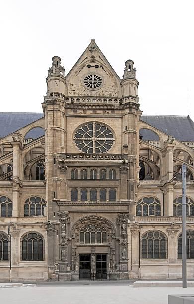 chiesa di sant'eustachio parigi francia - saint eustache church foto e immagini stock