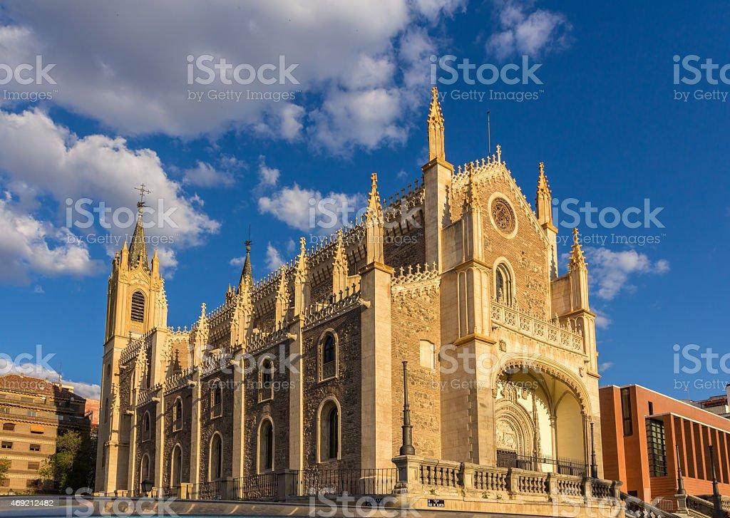 Church San Jeronimo el Realo in Madrid, Spain stock photo