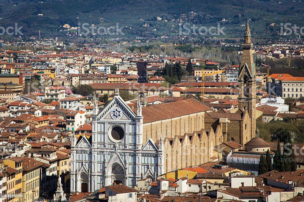 Church Santa Croce in Florence stock photo