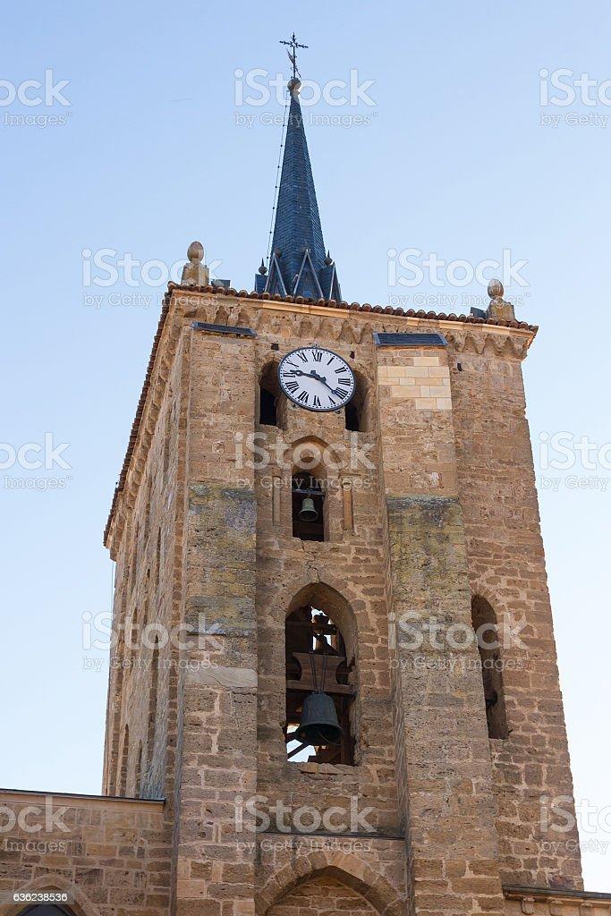 Church Santa Maria del Azogue en Benavente - Torre stock photo