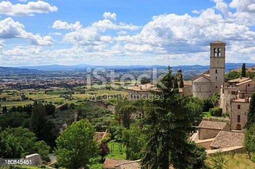 istock Church Santa Maria Maggiore in Assisi, Umbria, Italy 180845451