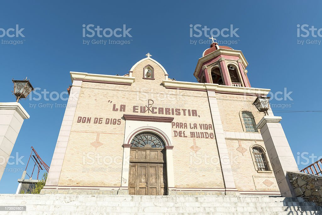 church Santo Cristo del Ojo de Agua in Saltillo, Mexico royalty-free stock photo