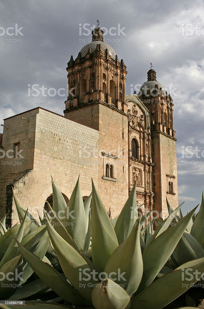 Church Santo Domingo stock photo