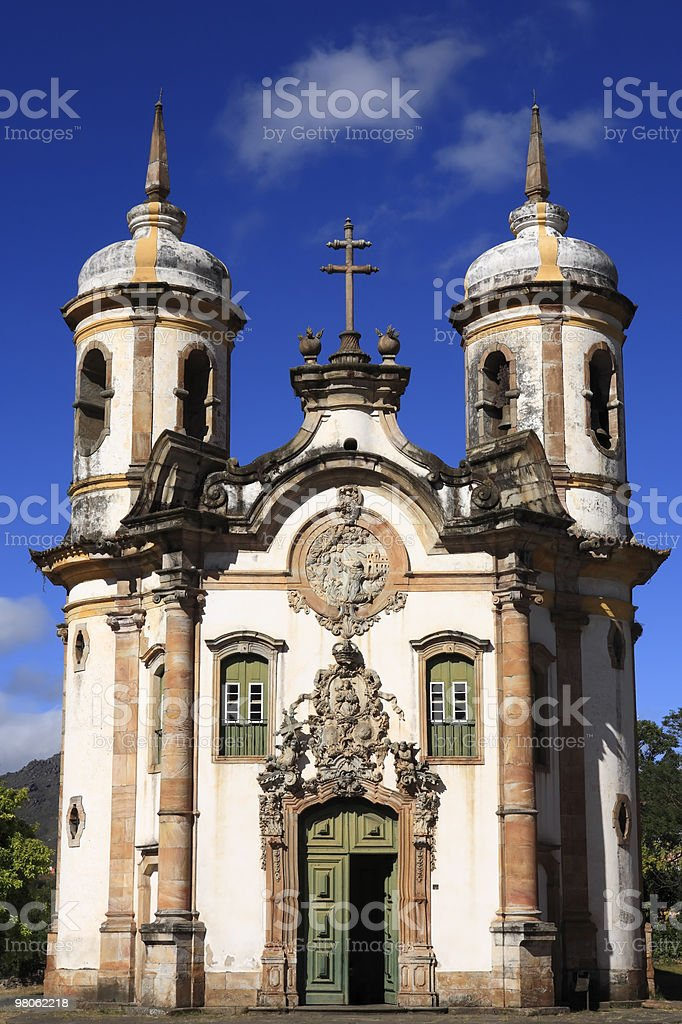 Igreja  Sao Francisco de Assis church of  Ouro Preto brazil royalty-free stock photo