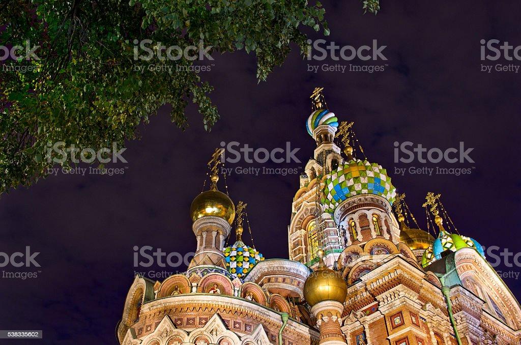 Church Saviour on Spilled Blood (Spas na Krovi), Petersburg stock photo