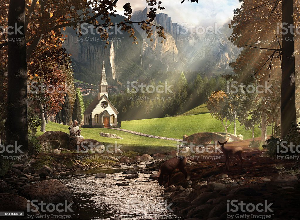 Church Scenic royalty-free stock photo