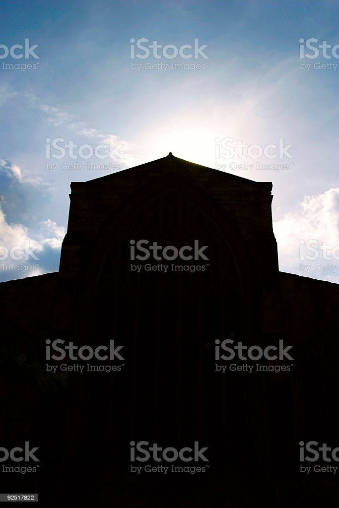 Church Silhouette 1 royalty-free stock photo