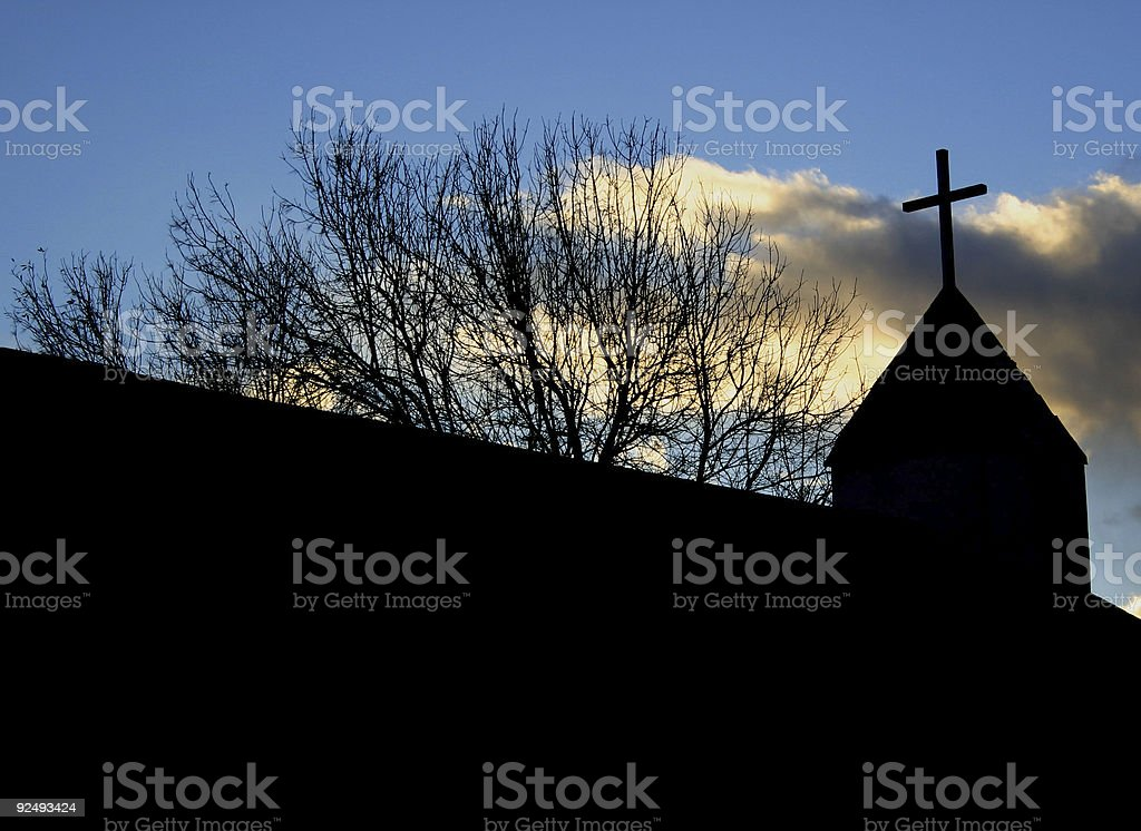 Church Silhouette royalty-free stock photo
