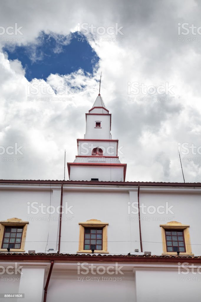 Church Spire at Monserrate stock photo