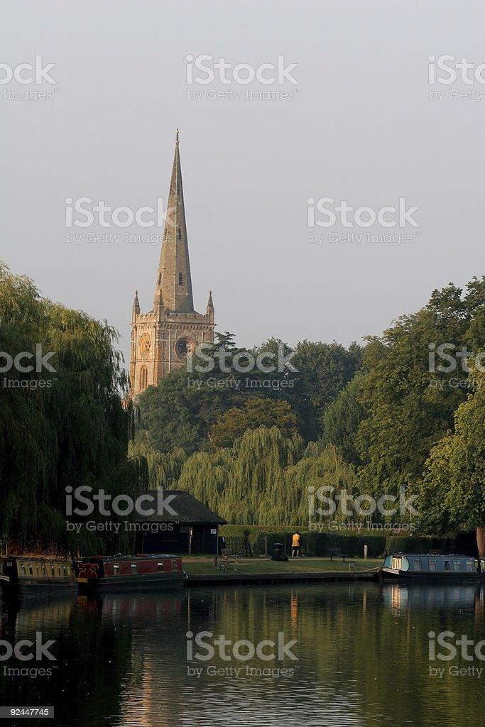 Church Spire at Stratford royalty-free stock photo