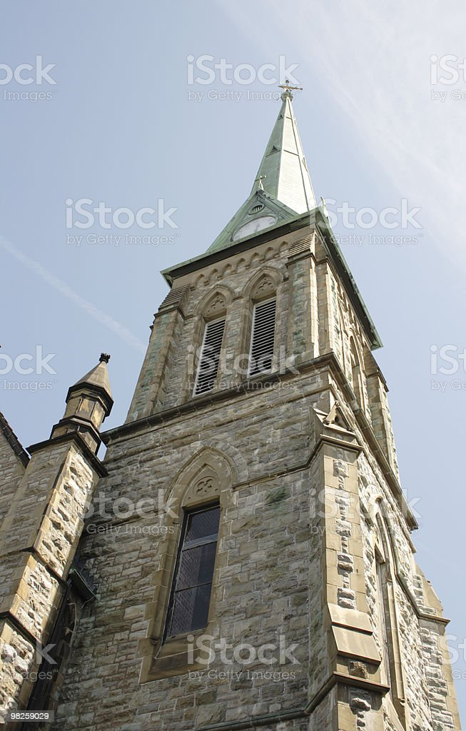 Chiesa spire foto stock royalty-free