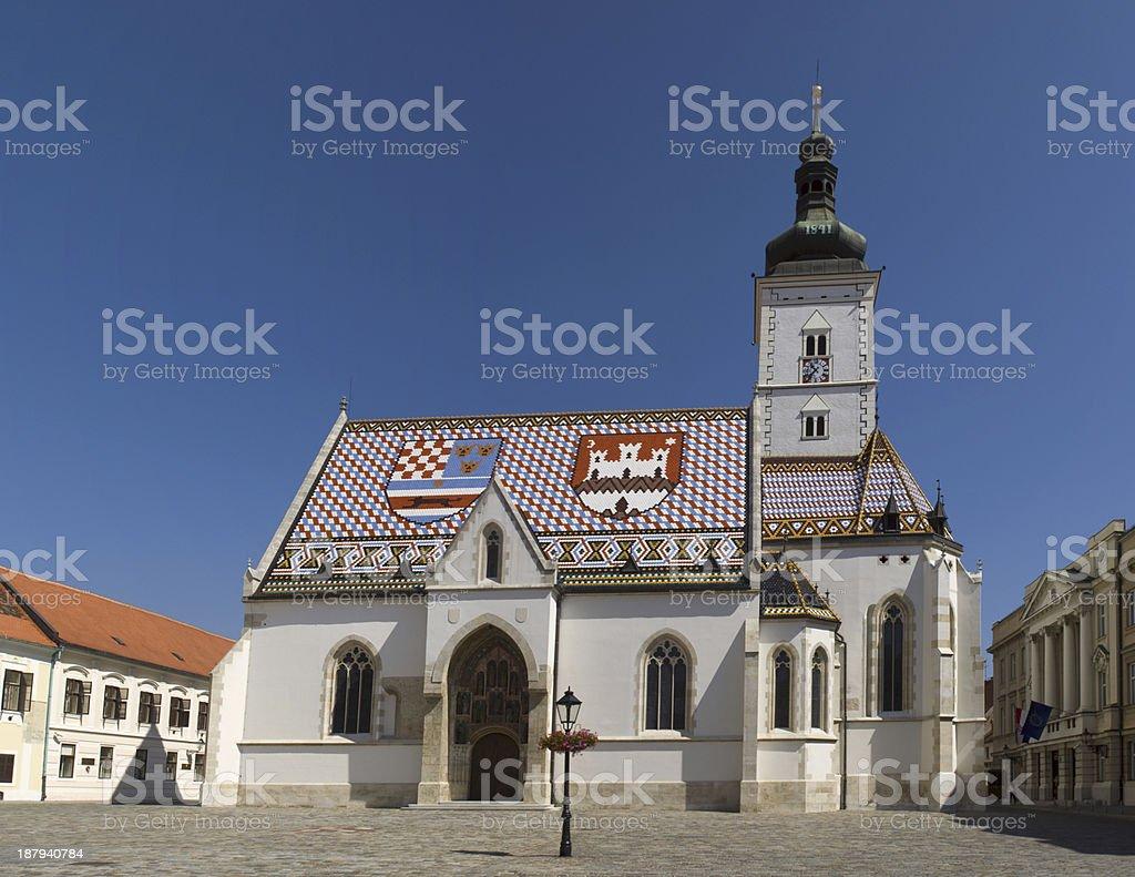 Church St Mark, Zagreb, Croatia royalty-free stock photo