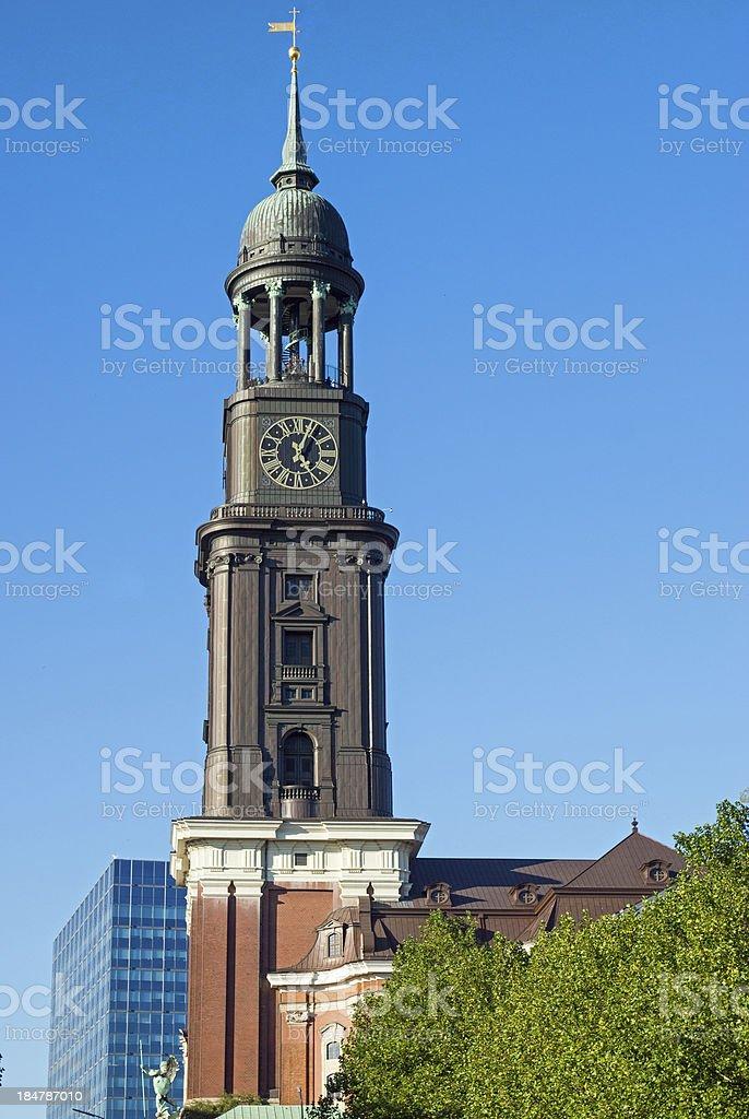 Church St. Michael in Hamburg stock photo