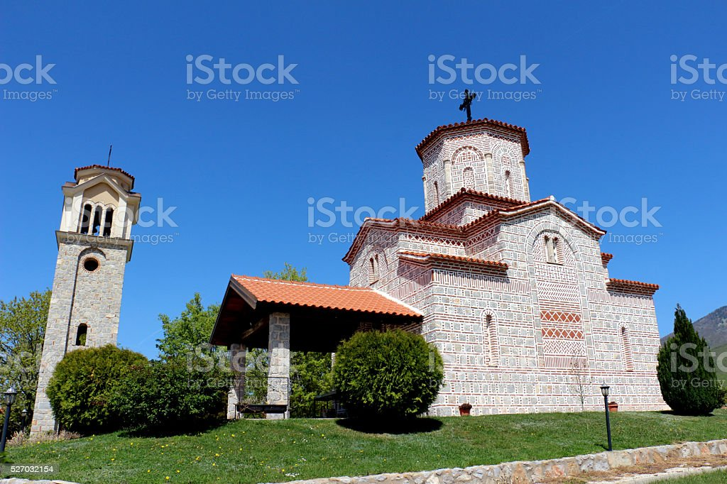 church st. peter and paul. village of podmochani,macedonia stock photo