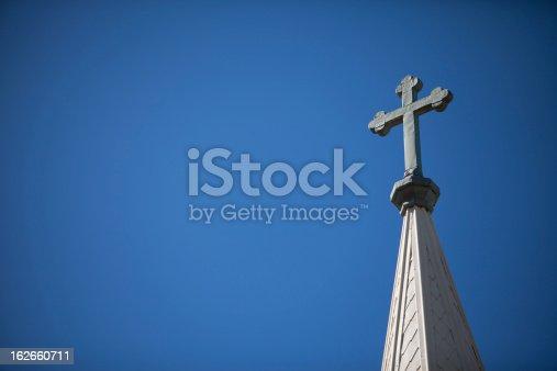 istock Church Steeple and Cross 162660711