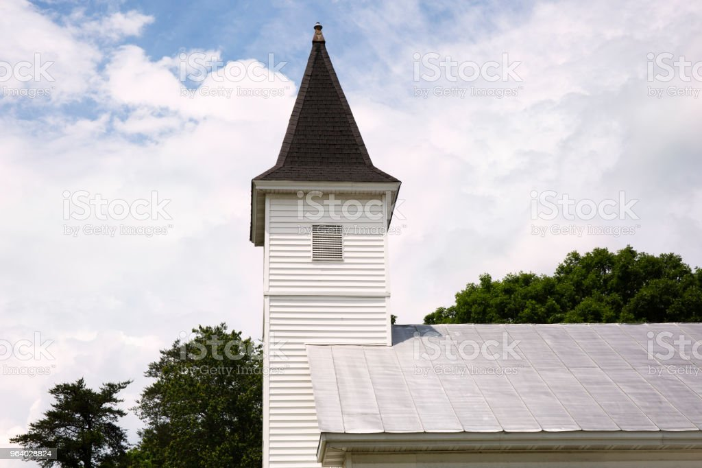 Church steeple in Summerduck Virginia against blue sky. - Royalty-free Architecture Stock Photo