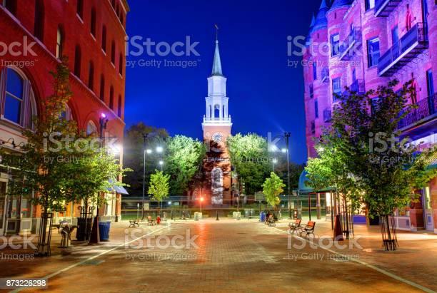 Church Street Burlington Vermont Stock Photo - Download Image Now