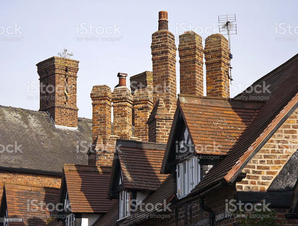 Church Street Chimneys stock photo