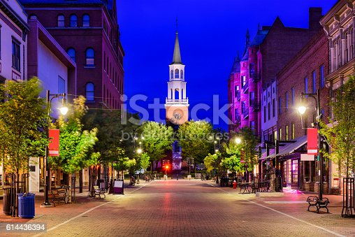 istock Church Street in Burlington, Vermont 614436394